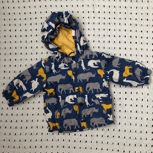 Baby Boden jacket with animals 6-12 months